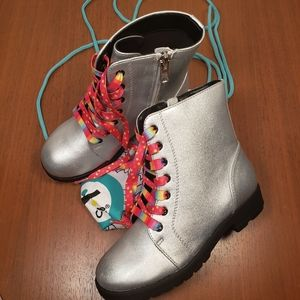 Chooze silver boots size 12